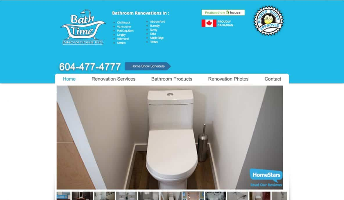Bathtime Website Design by Achieve Online