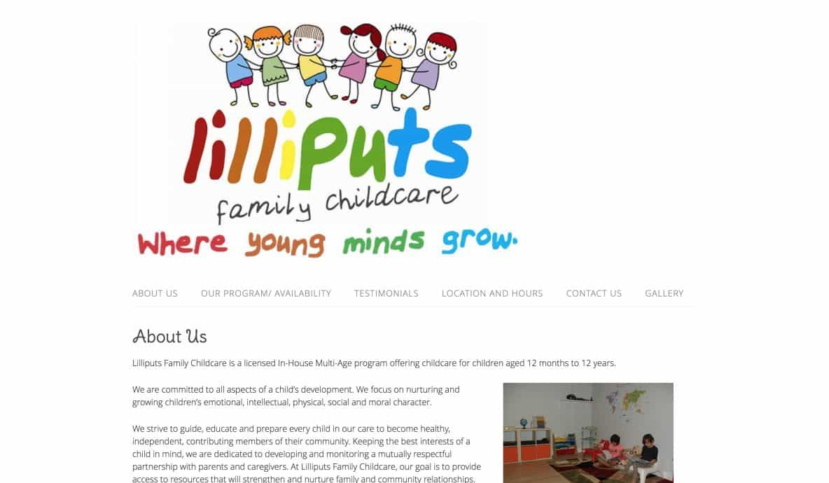 Lilliputs Website Design by Achieve Online
